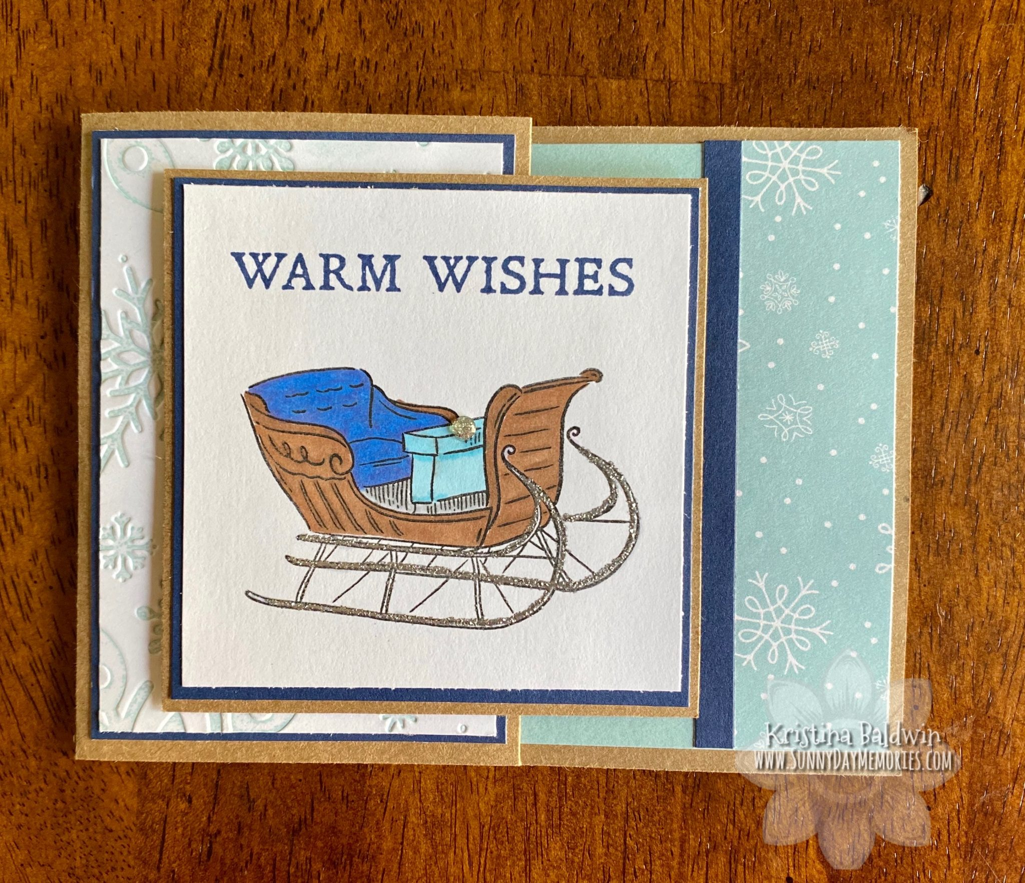 CTMH Warm Wishes Gift Card Holder