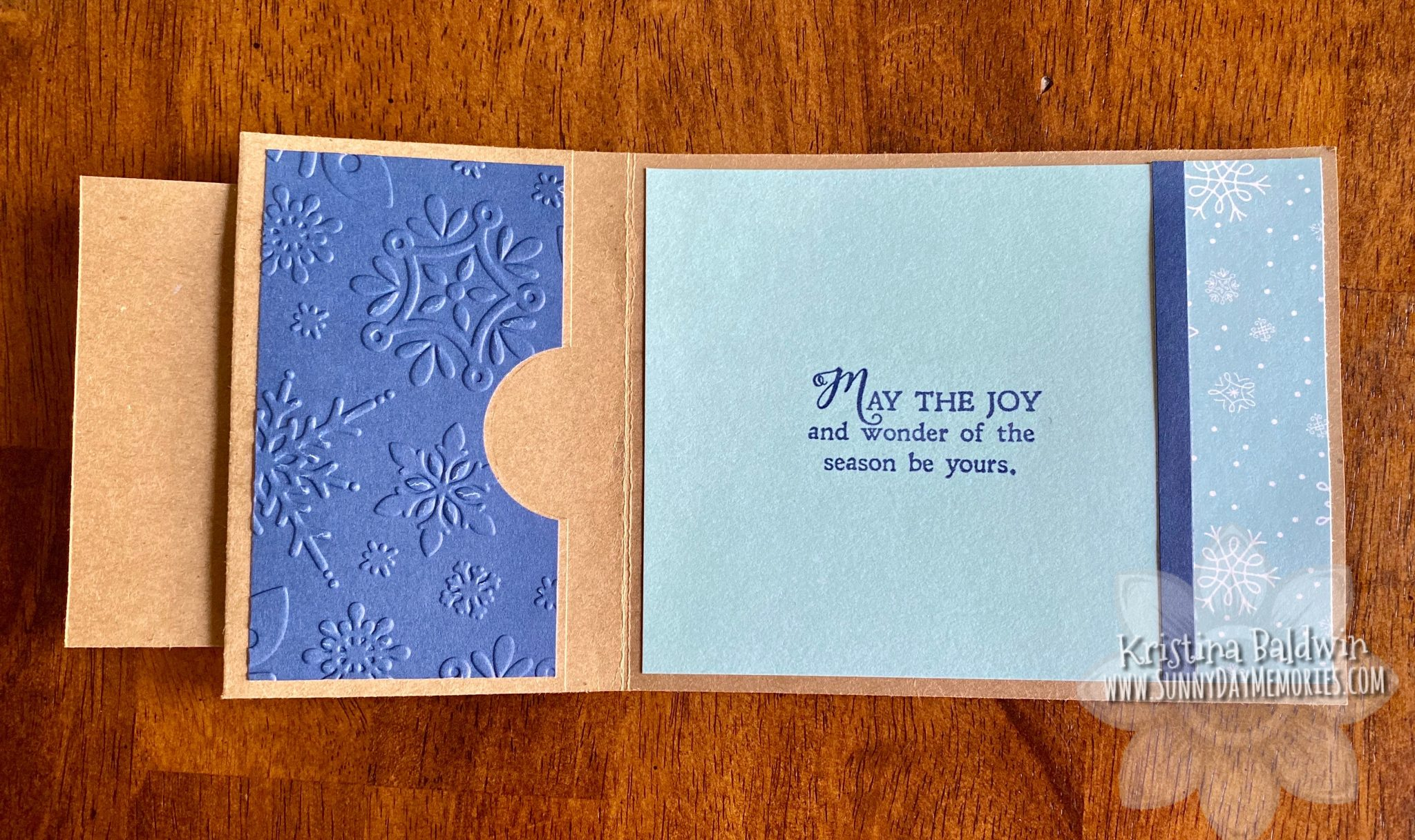 CTMH Warm Wishes Gift Card Holder inside