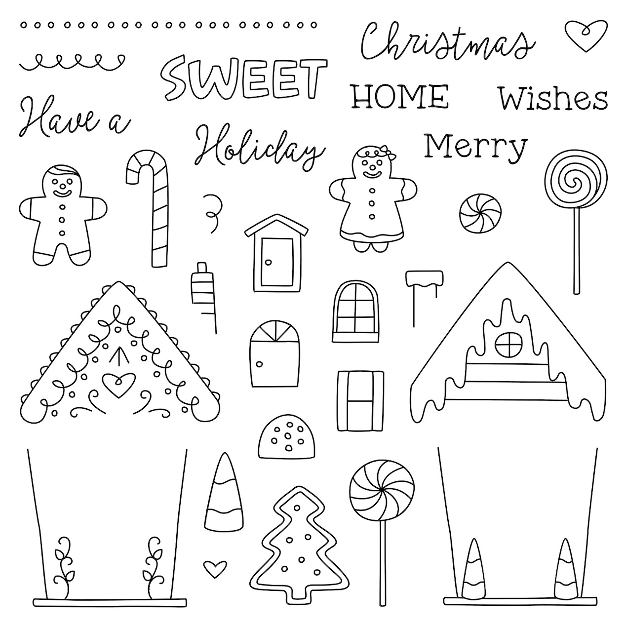 CTMH From CandyLand Stamp Set
