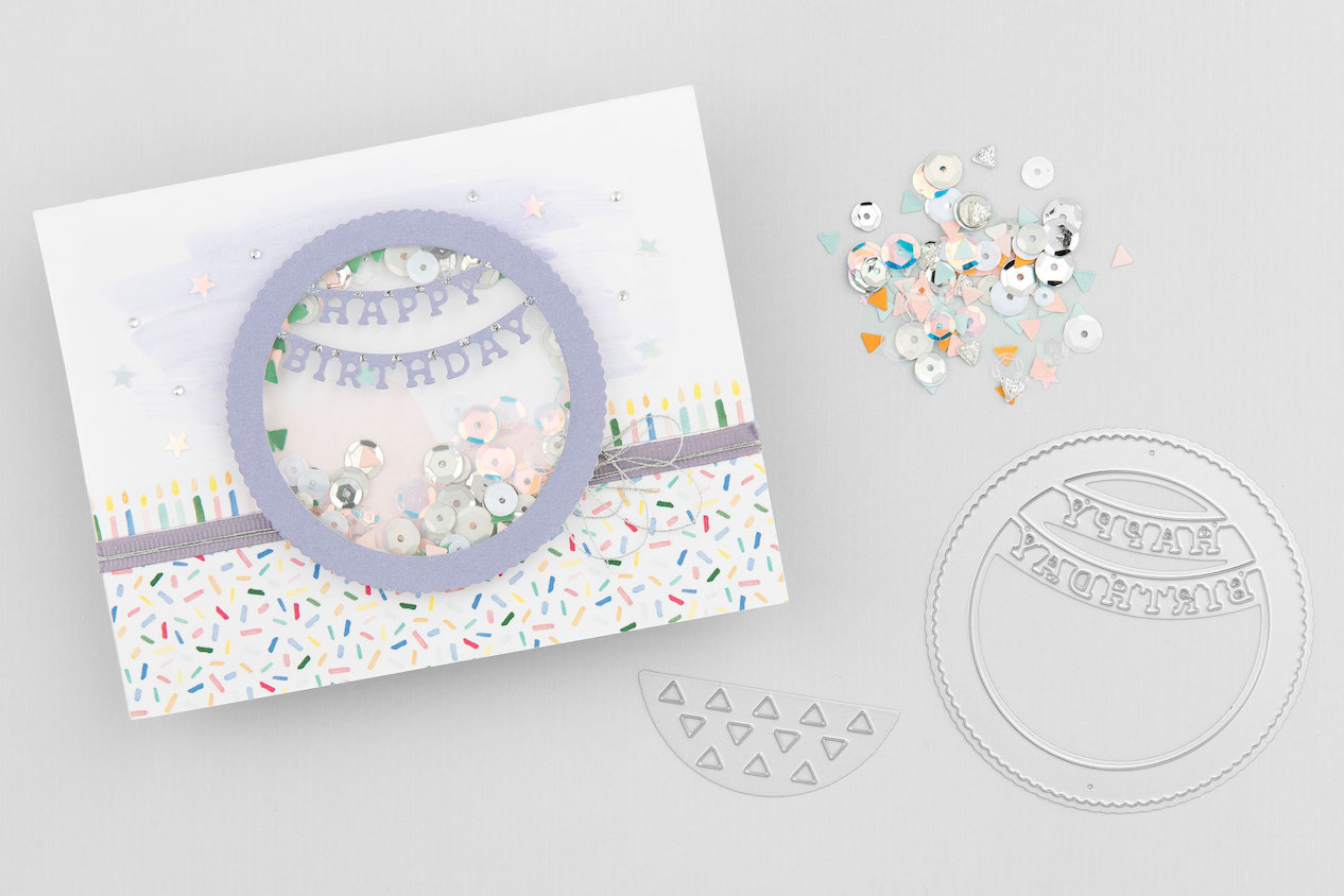CTMH Happy Birthday Shaker Card