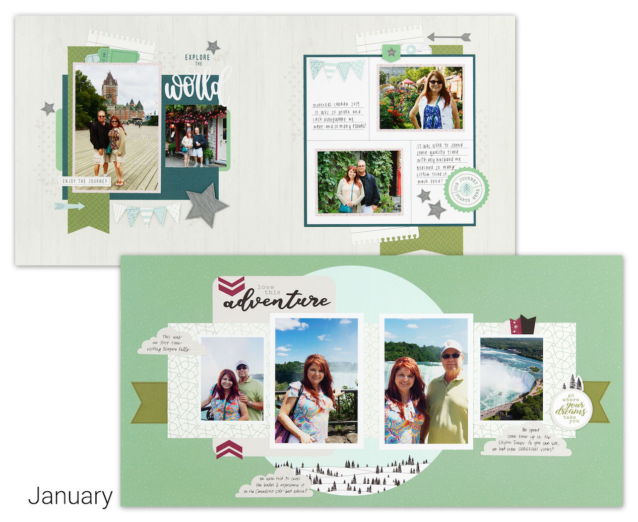 CTMH Craft with Heart January Scrapbooking Kit