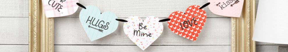 CTMH Be Mine Valentine's Banner