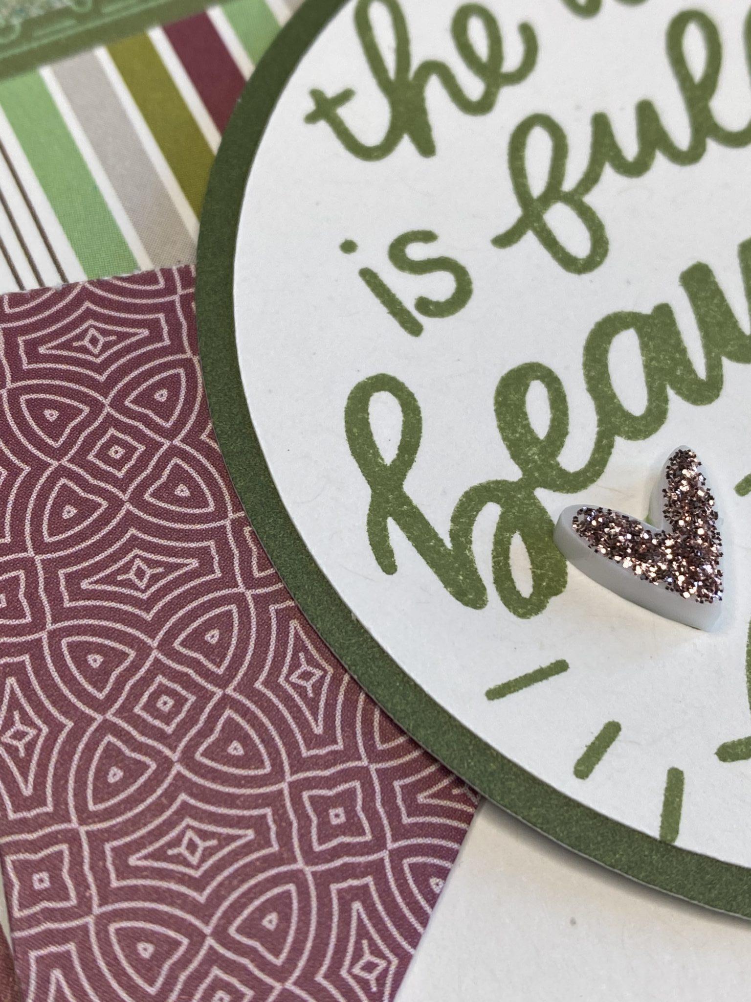 Closeup CTMH Beautiful Things Card