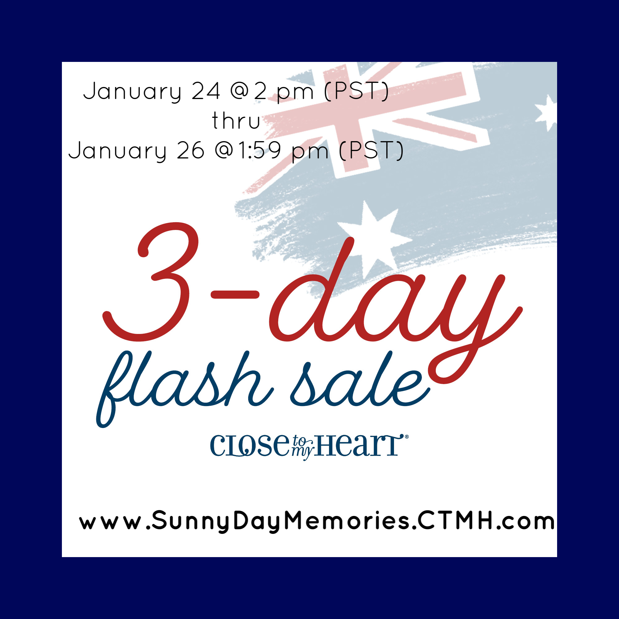 CTMH January 2020 Australia Day Flash Sale