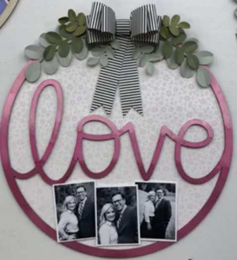 CTMH Wooden Love Wreath