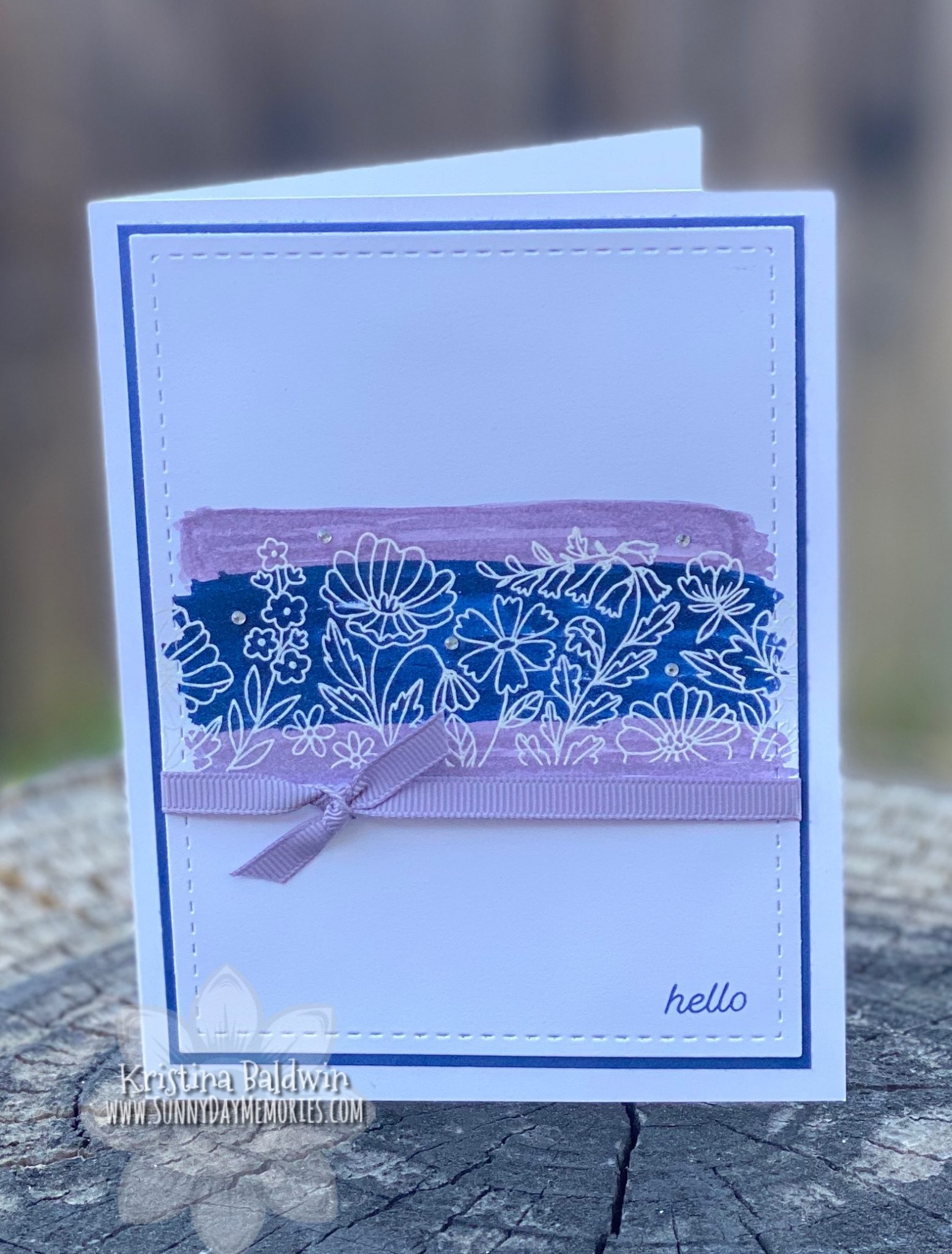 CTMH Floral Borders Hello Card