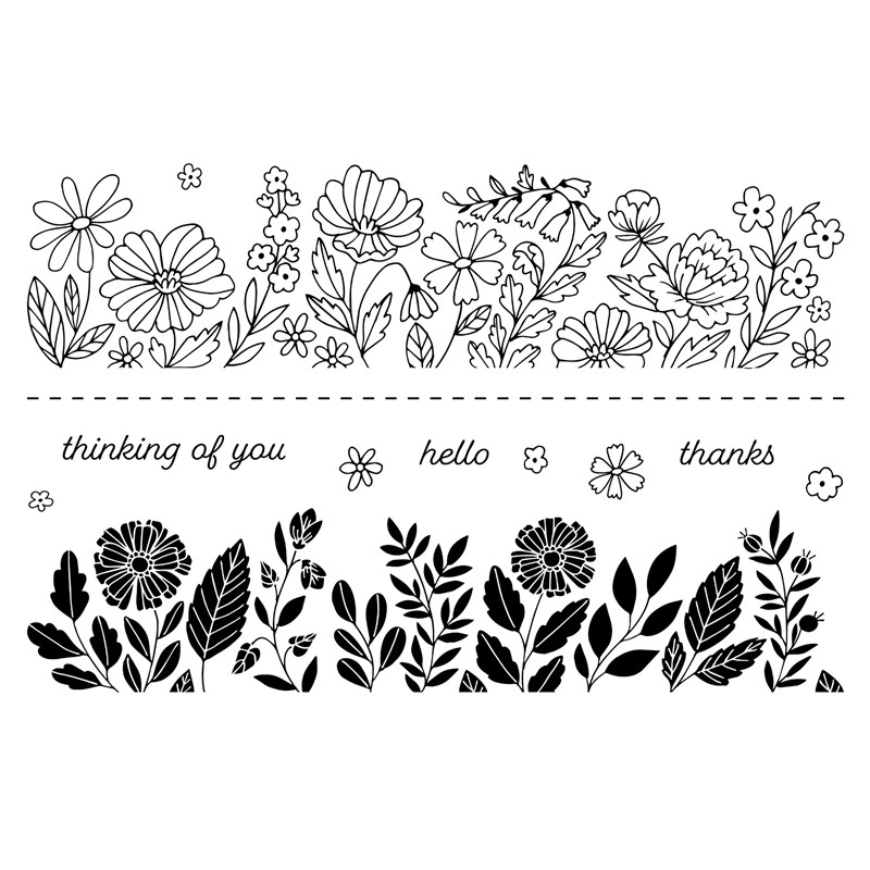 CTMH Floral Borders Stamp Set