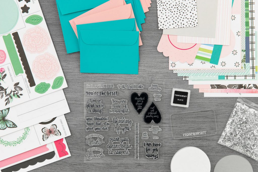 CTMH Craft with Heart Card Subscription Box Contents