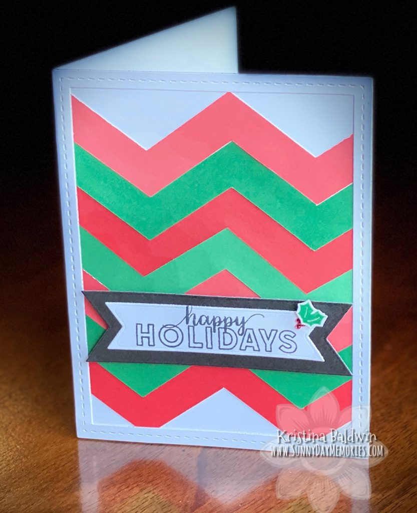CTMH Chevron Holiday Card