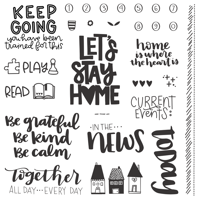 CTMH Let's Stay Home Stamp Set
