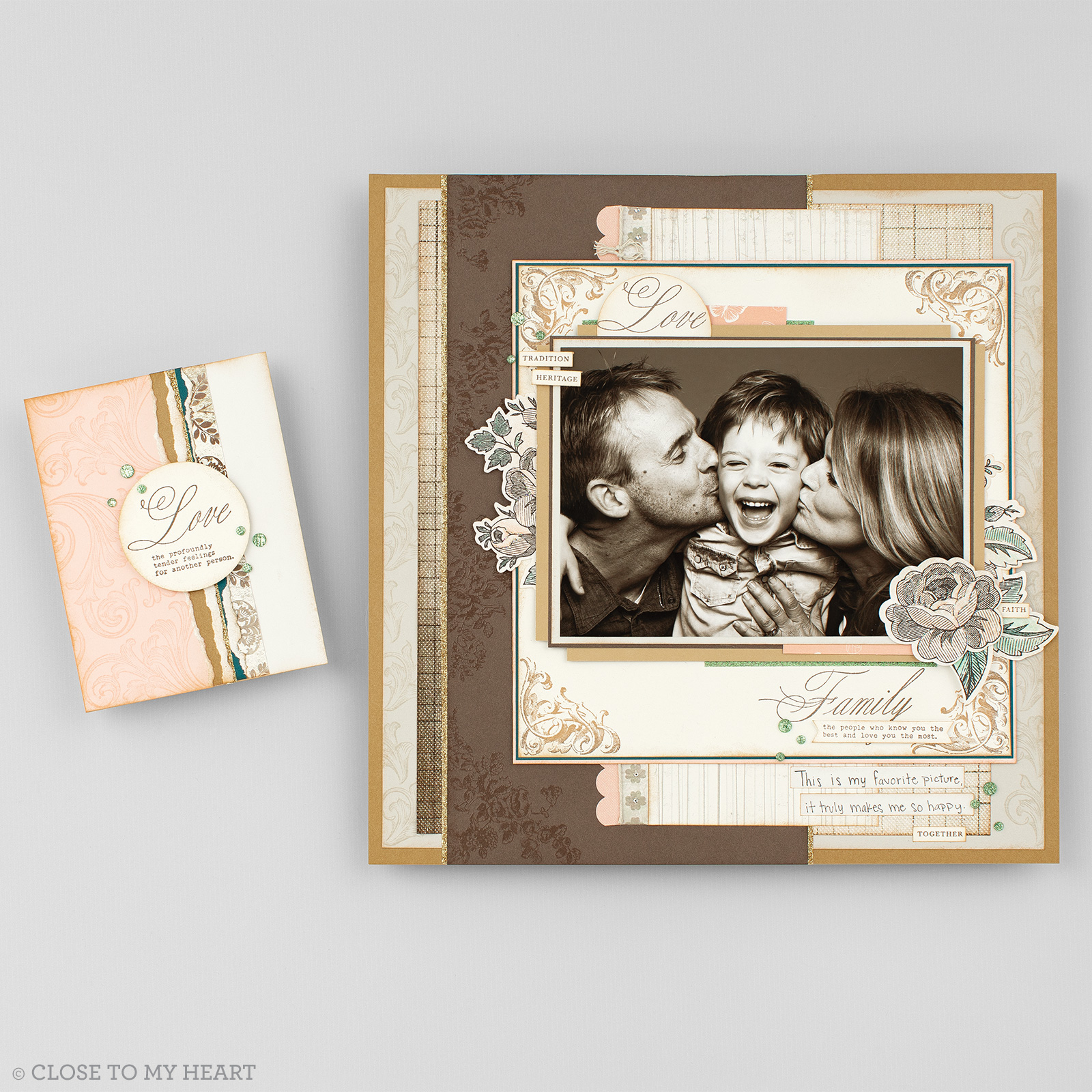 CTMH Family Legacy Stamp of the Month Layout & Card