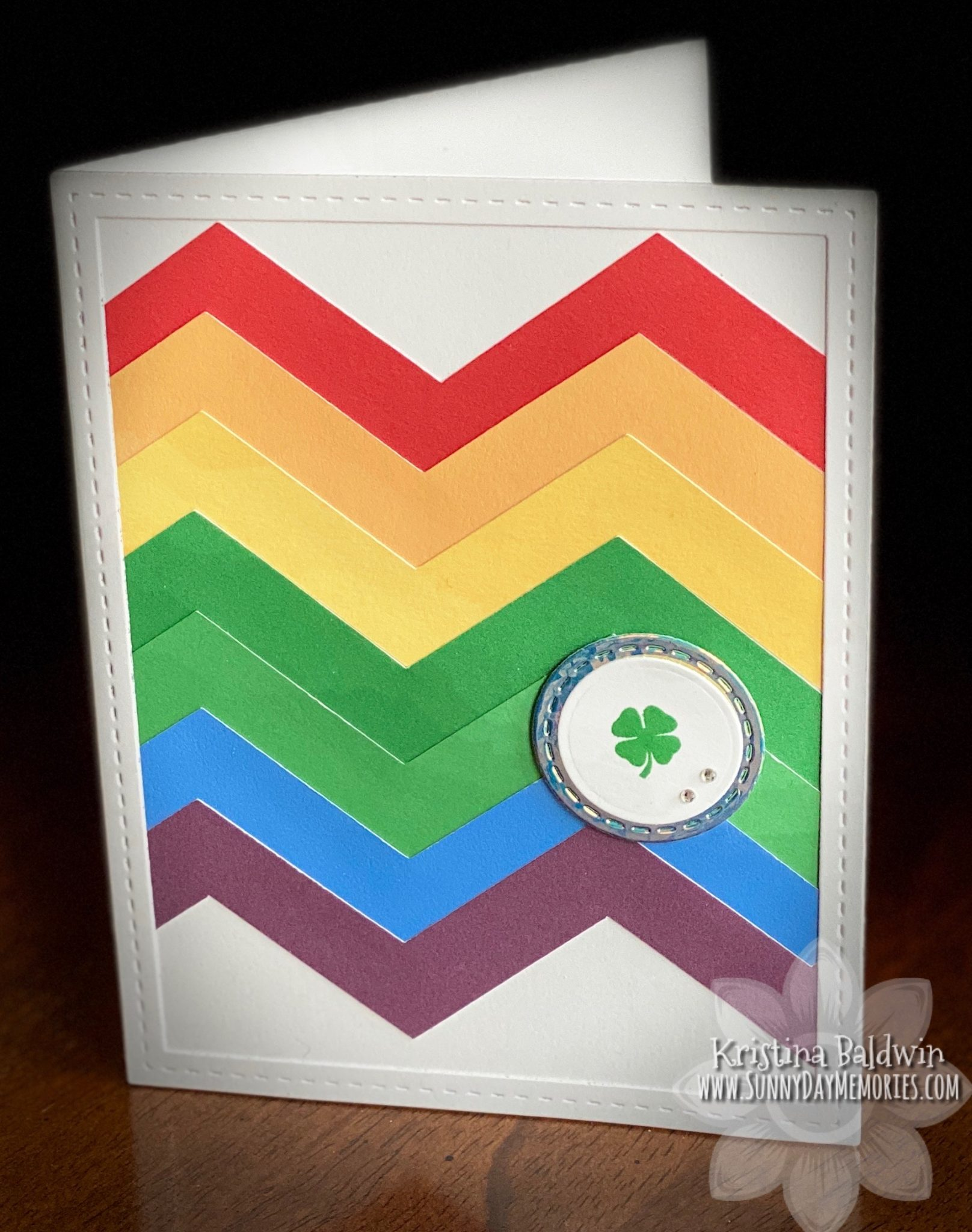 CTMH Chevron Shamrock Card
