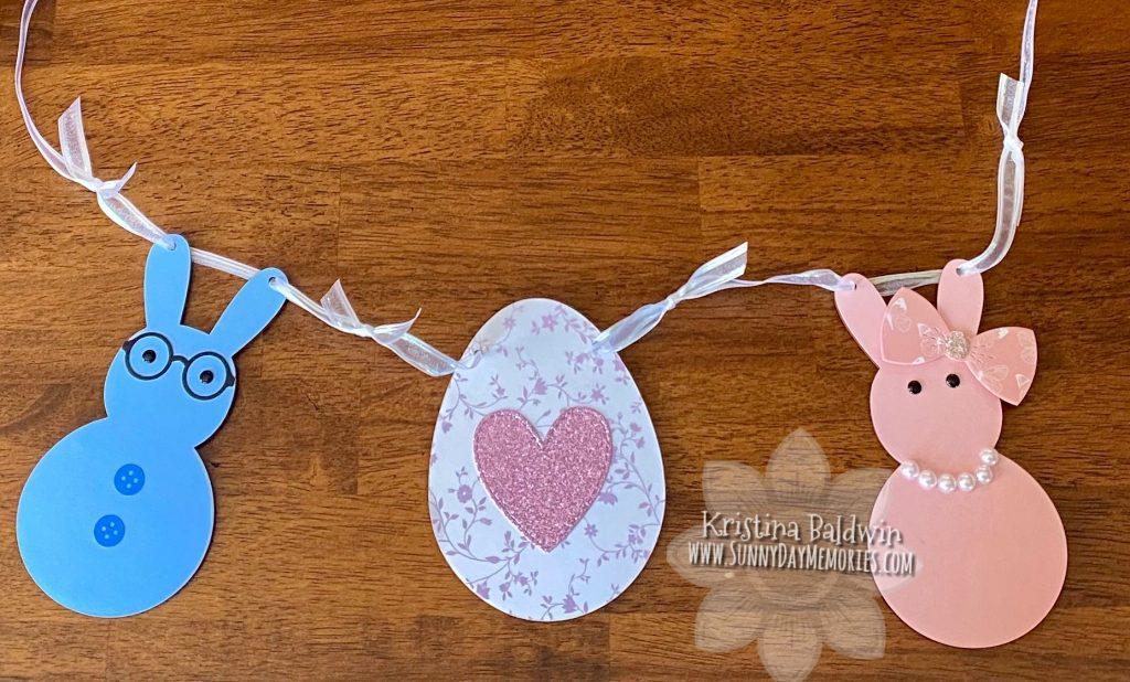 CTMJH Bunny & Easter Egg Wood Banner