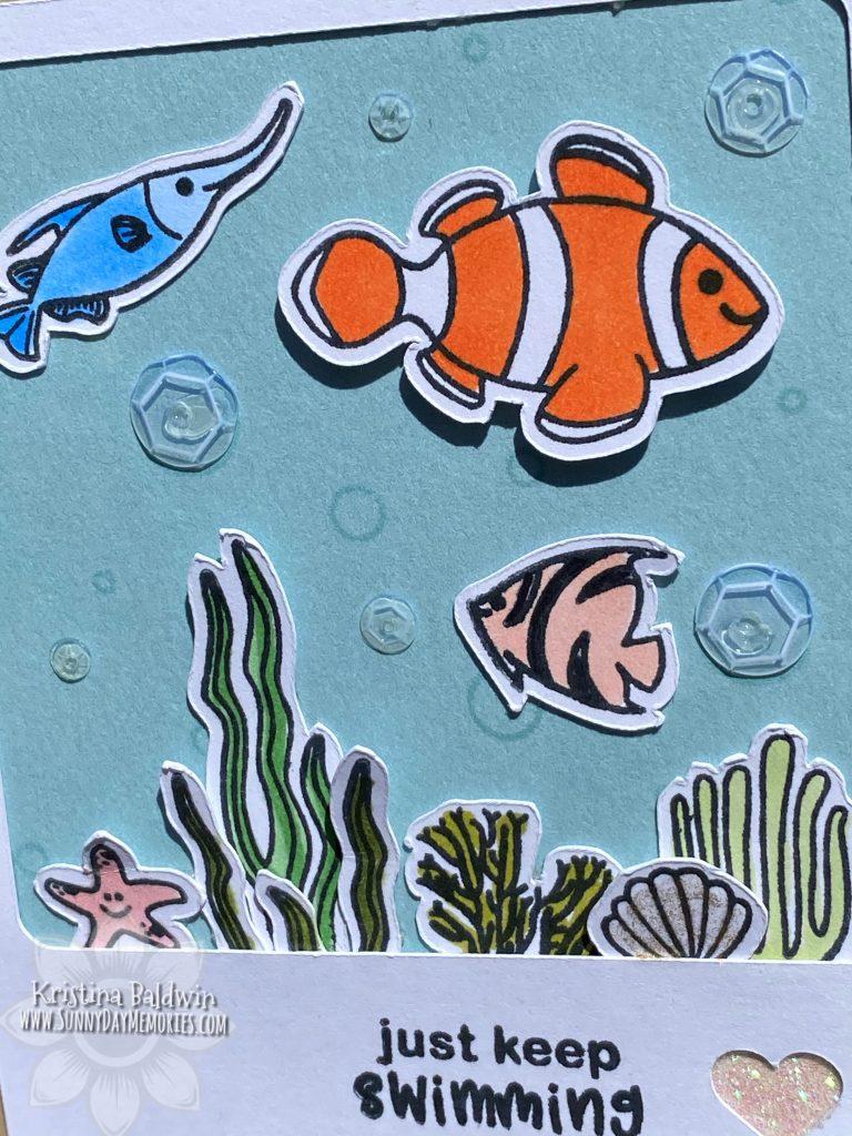 Close-up CTMH O-fish-ally Awesome Polaroid Card