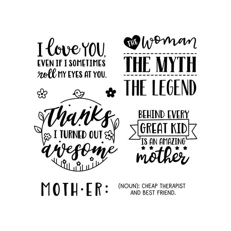 CTMH Amazing Mother Stamp Set