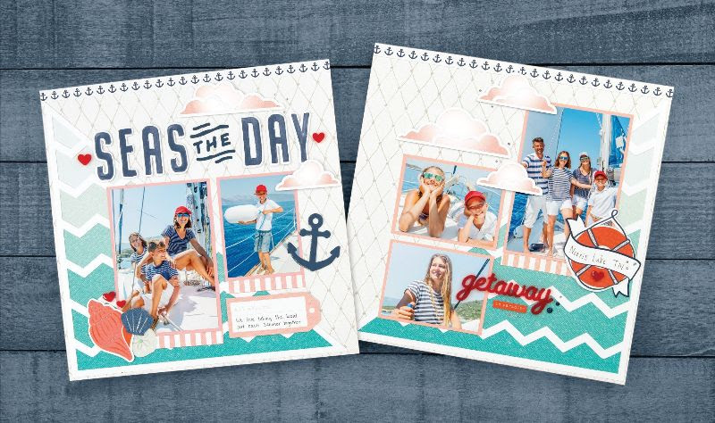CTMH Seas the Day Scrapbooking Kit