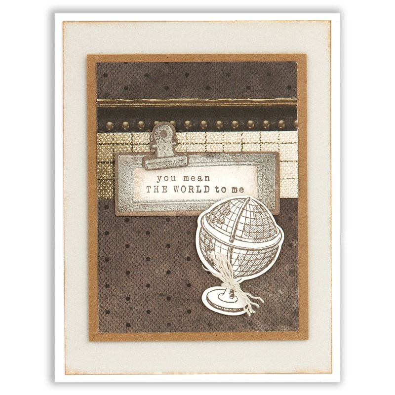 CTMH Antique Heat Embossed Card