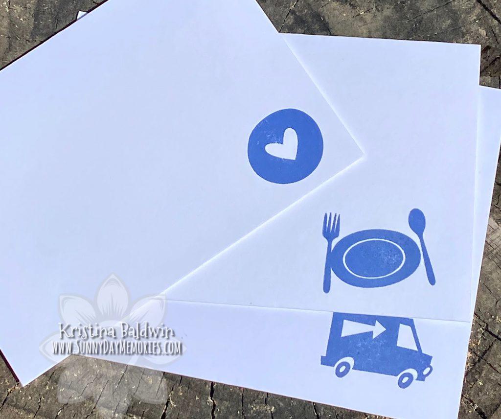 CTMH Forever Grateful Stamped Envelopes