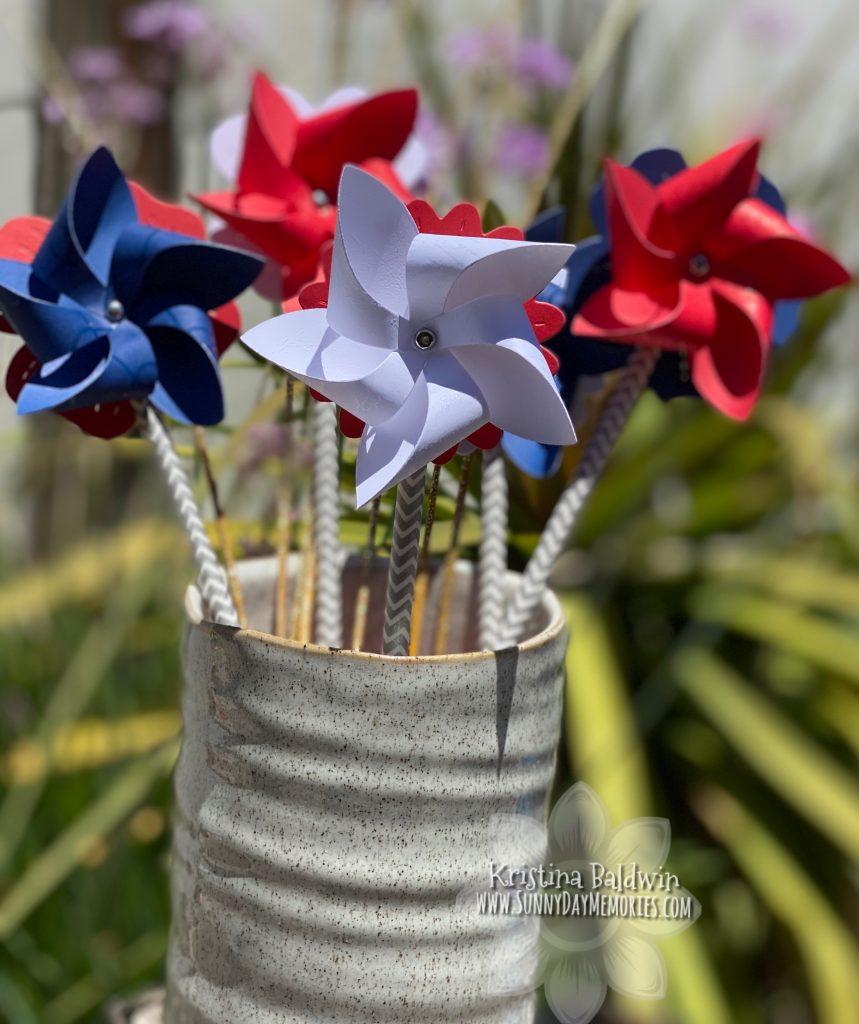 Close To My Heart Pinwheel Flowers