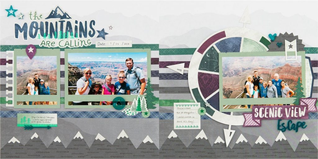 CTMH The Mountains are Calling Layout