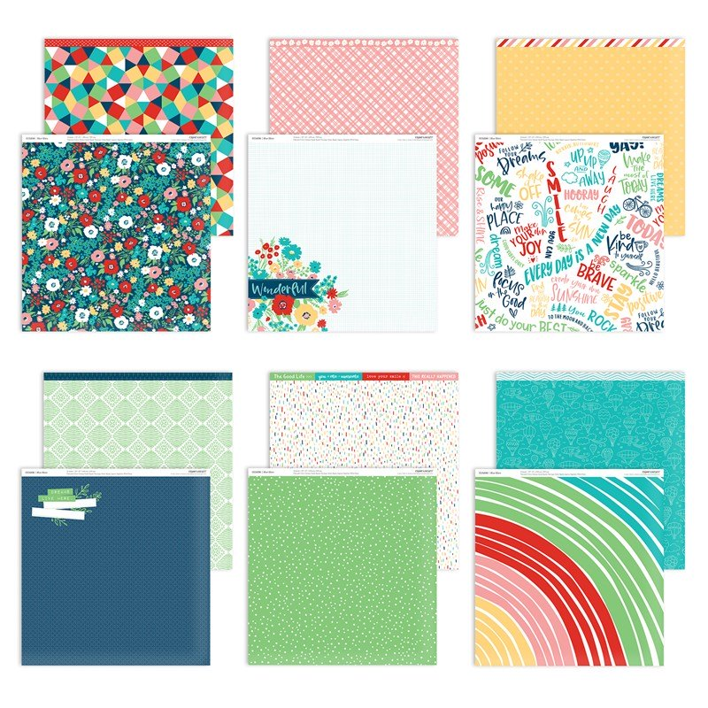 CTMH Blue Skies National Scrapbooking Paper Collection