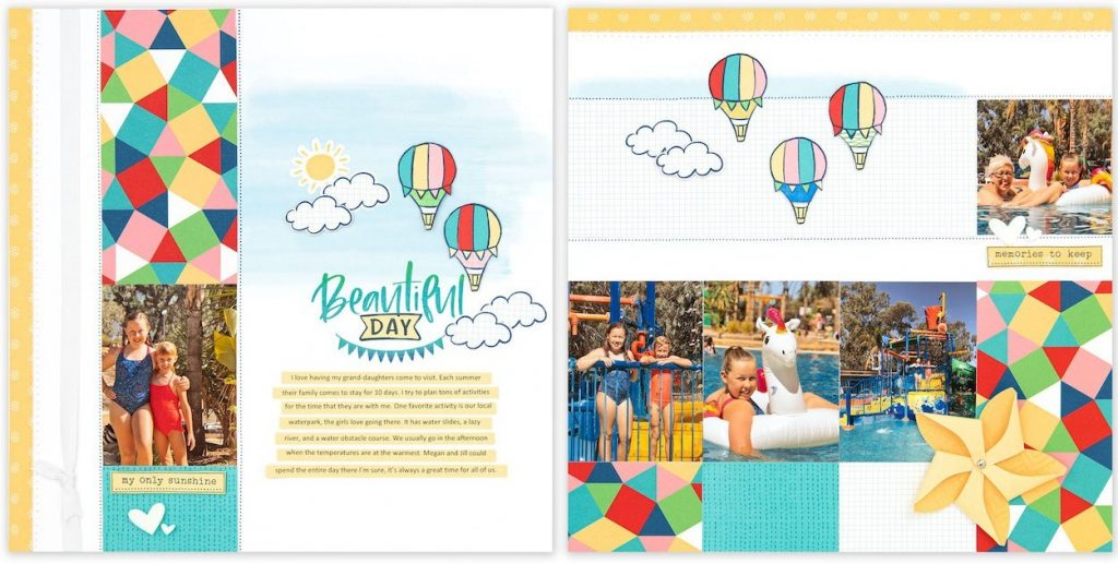 CTMH FREE Blue Skies Layout