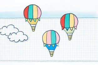 CTMH FREE Blue Skies Pattern Hot Air Balloons