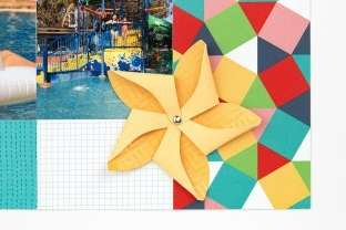 CTMH FREE Blue Skies Pattern Pinwheel Closeup