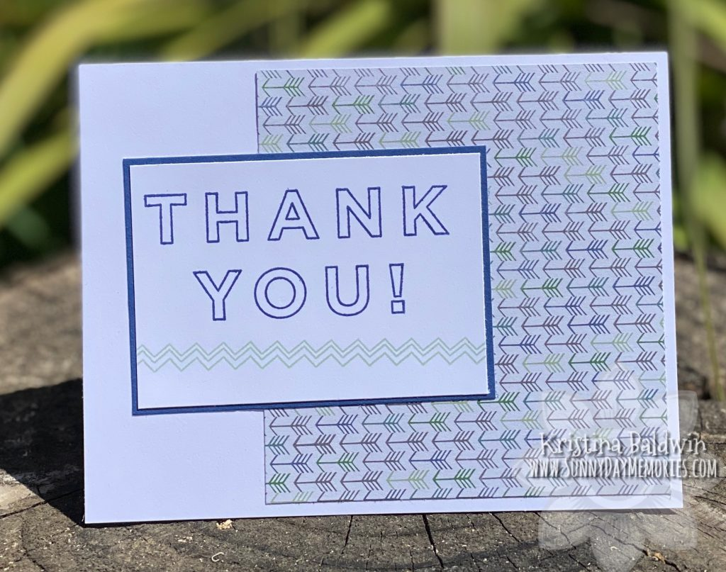 CTMH Forever Grateful Thank You Card