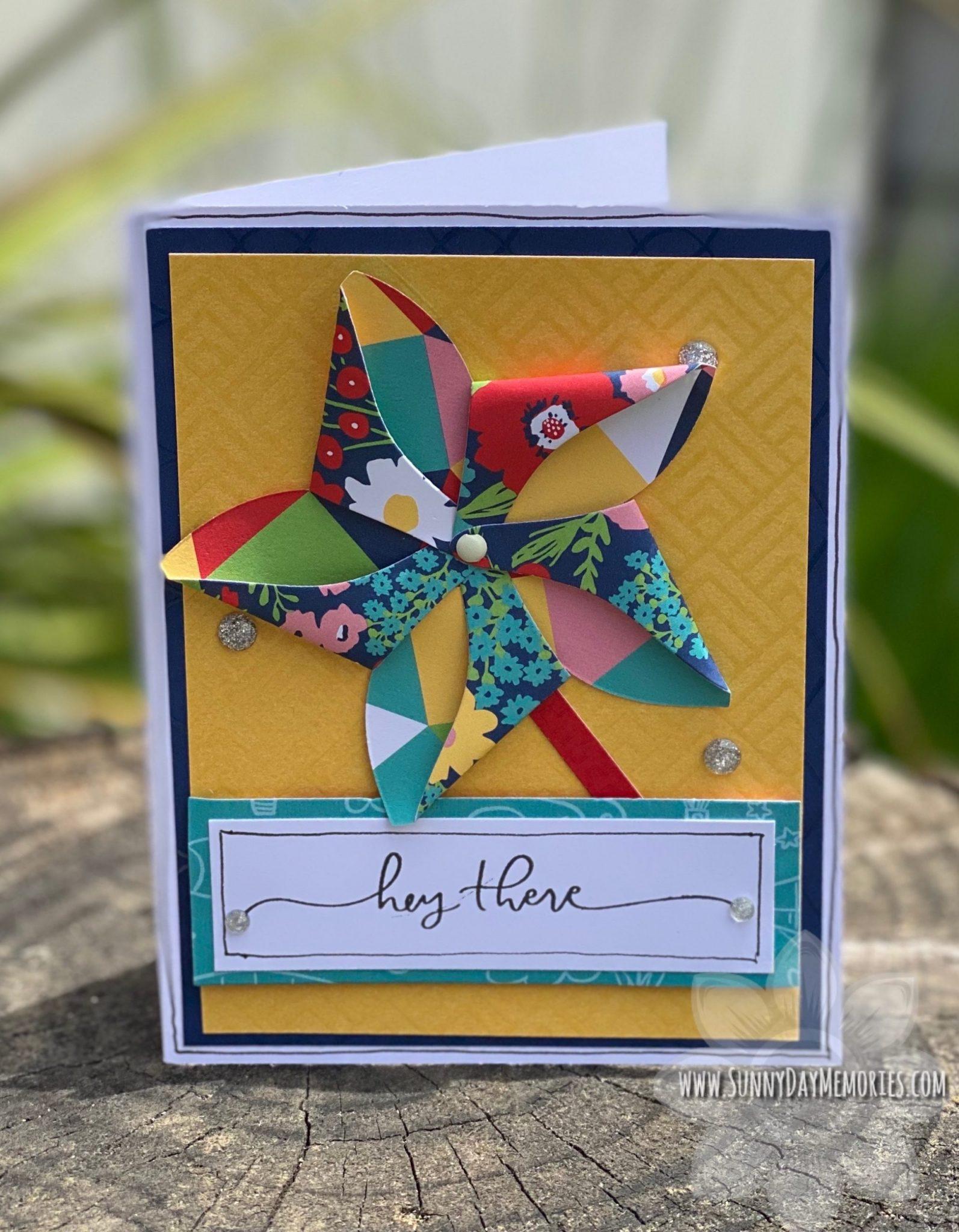 CTMH Handmade Pinwheel Card