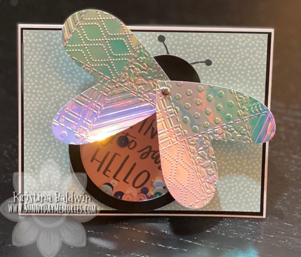 CTMH Butterfly Shaker Card