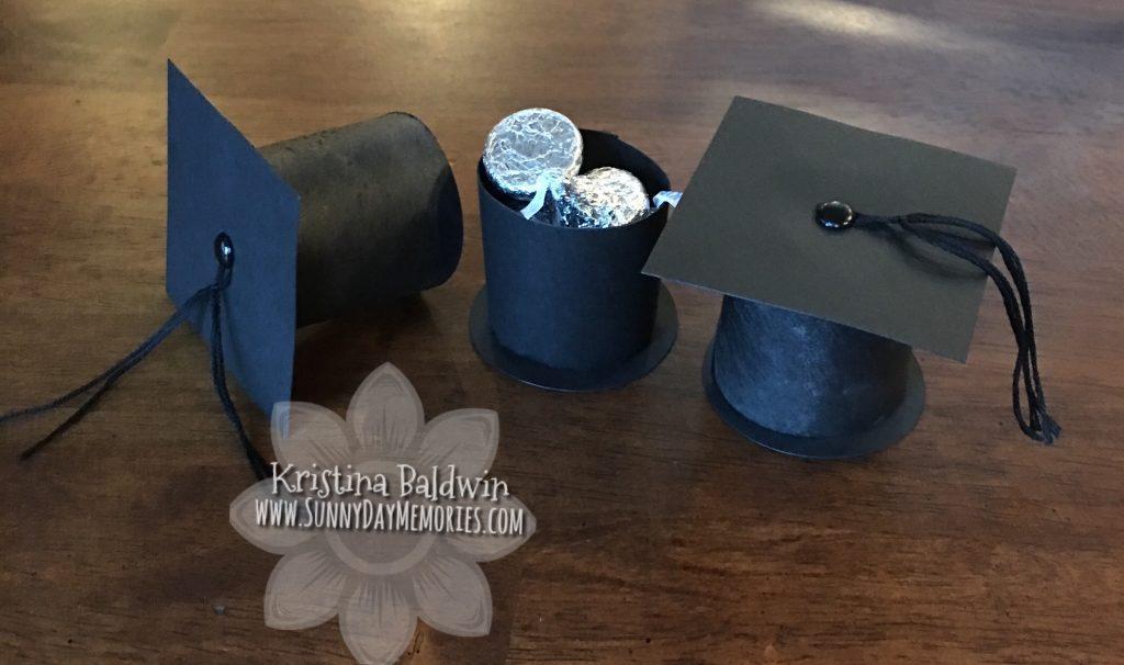 Completed Graduation Cap Favor Boxes