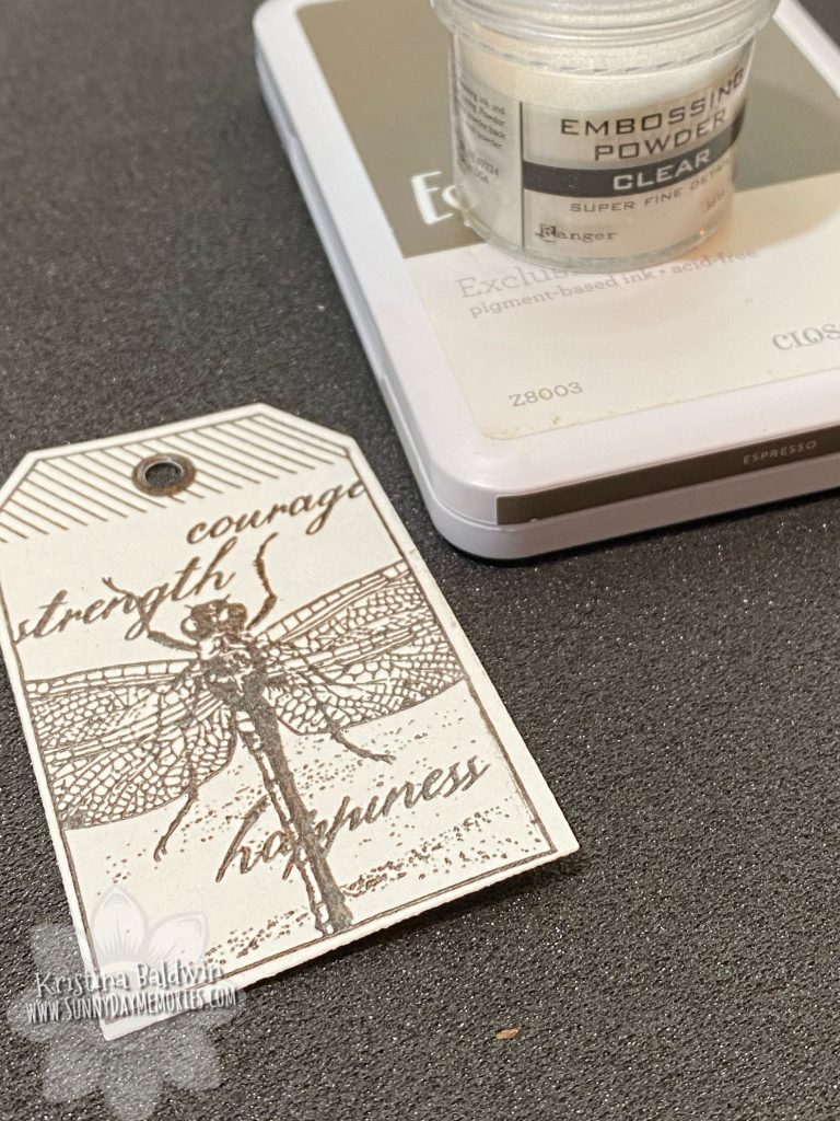 Embossed Dragonfly Garden Tag