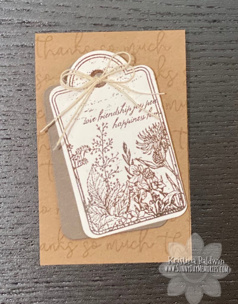 CTMH Heat Embosed Garden Tag Card