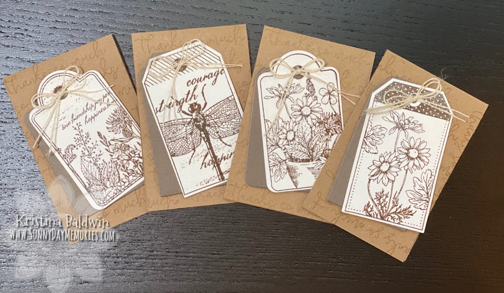 CTMH Heat Embossed Garden Tags Cards