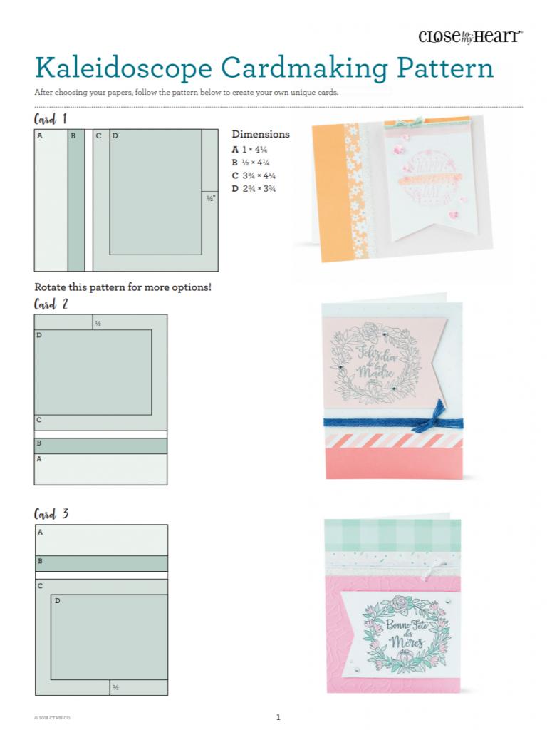 CTMH Kaleidoscope Cardmaking Pattern