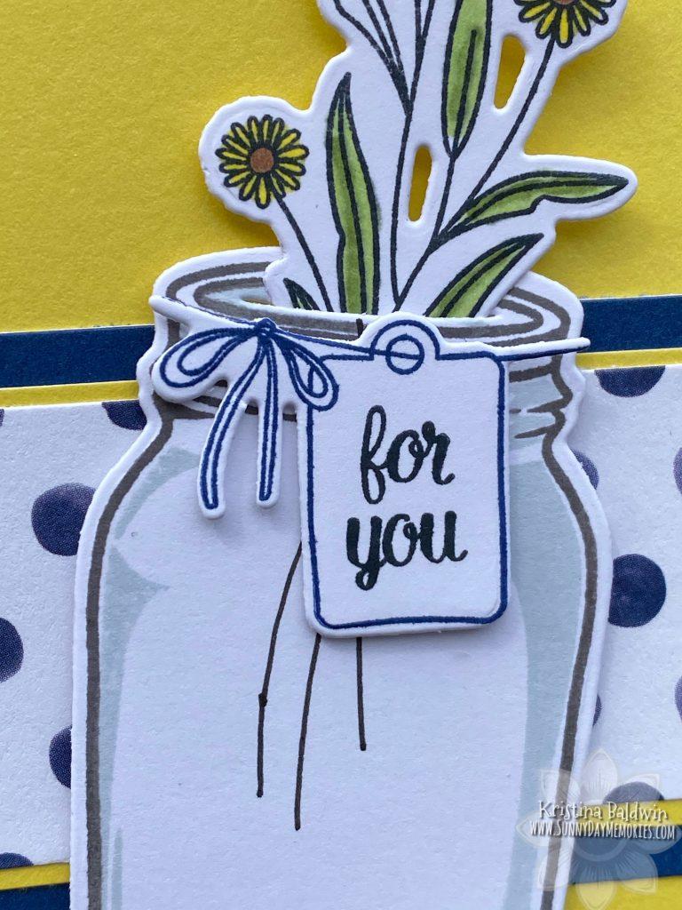 CTMH Mason Jar Card Closeup