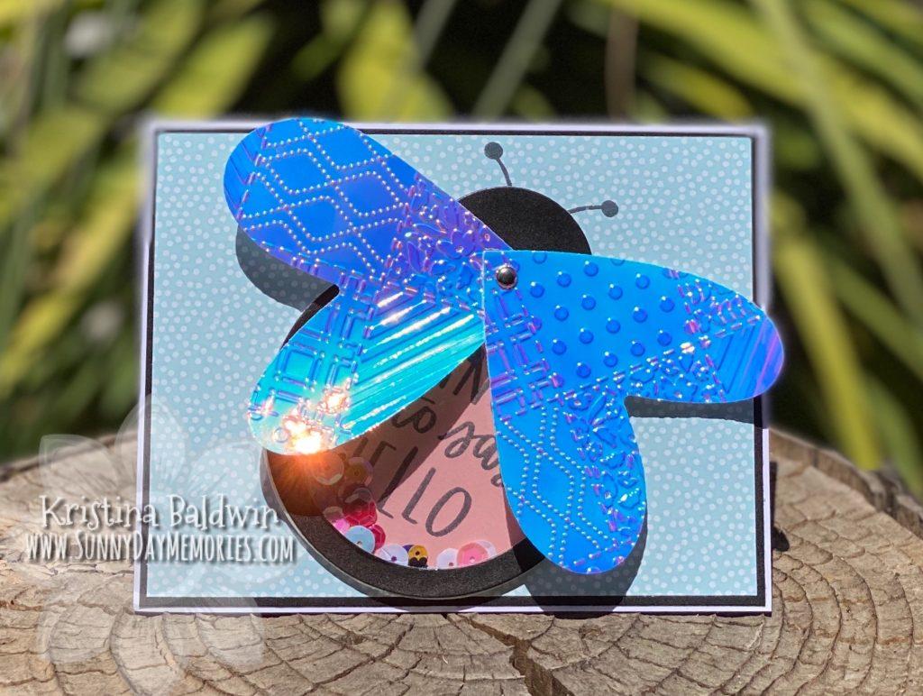 Make It Monday Butterfly Shaker Card