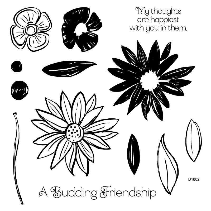 CTMH A Budding Friendship Stamp Set D1602