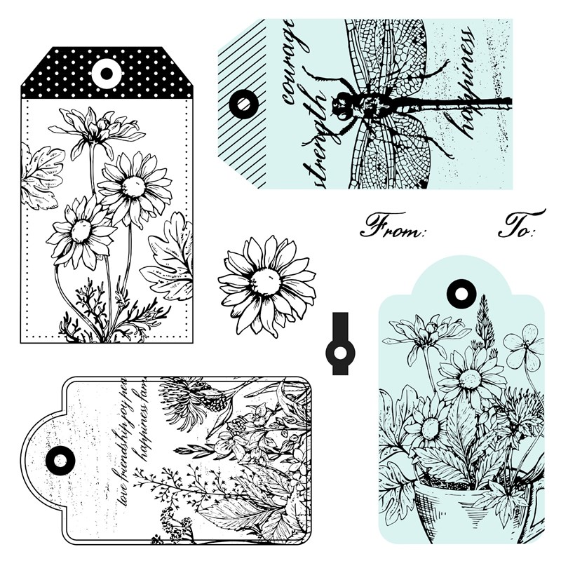 CTMH June Stamp of the Month Garden Tags