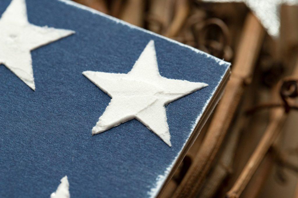 Texture Paste Stars for CTMH Americana Wreath