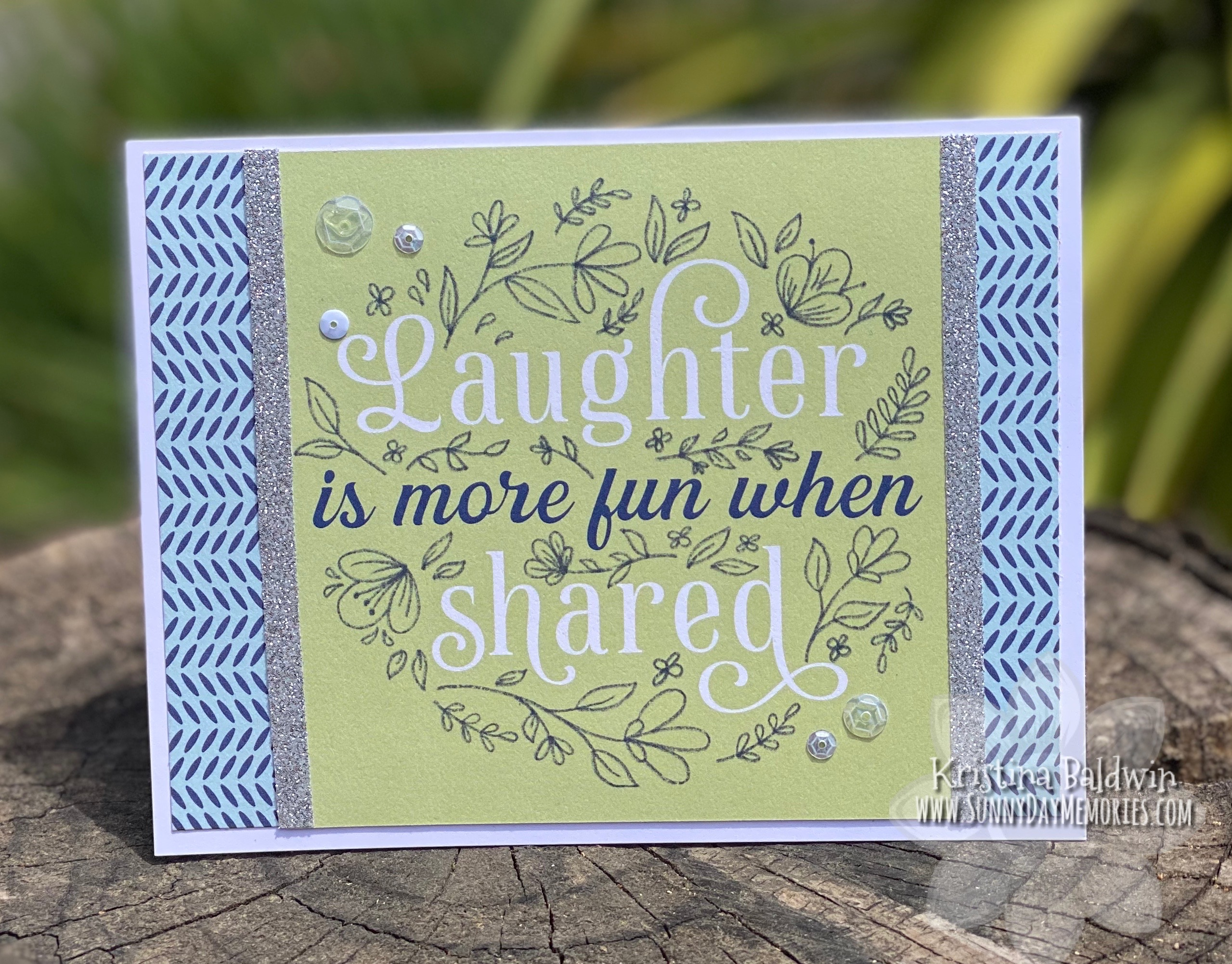 Laughter Picture My Life Handmade Card