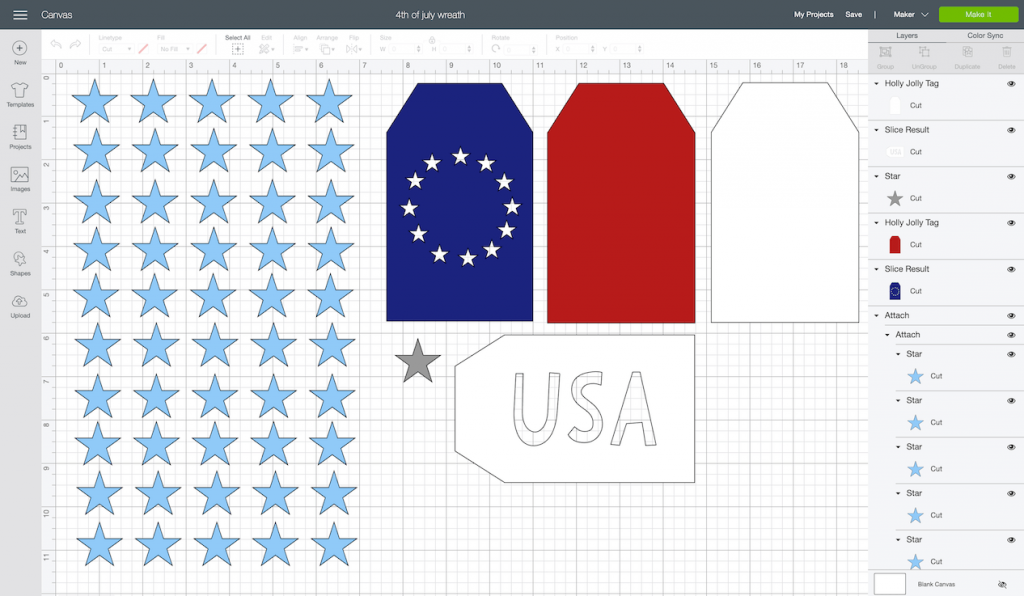 CTMH DIY Americana Decor Design Space File