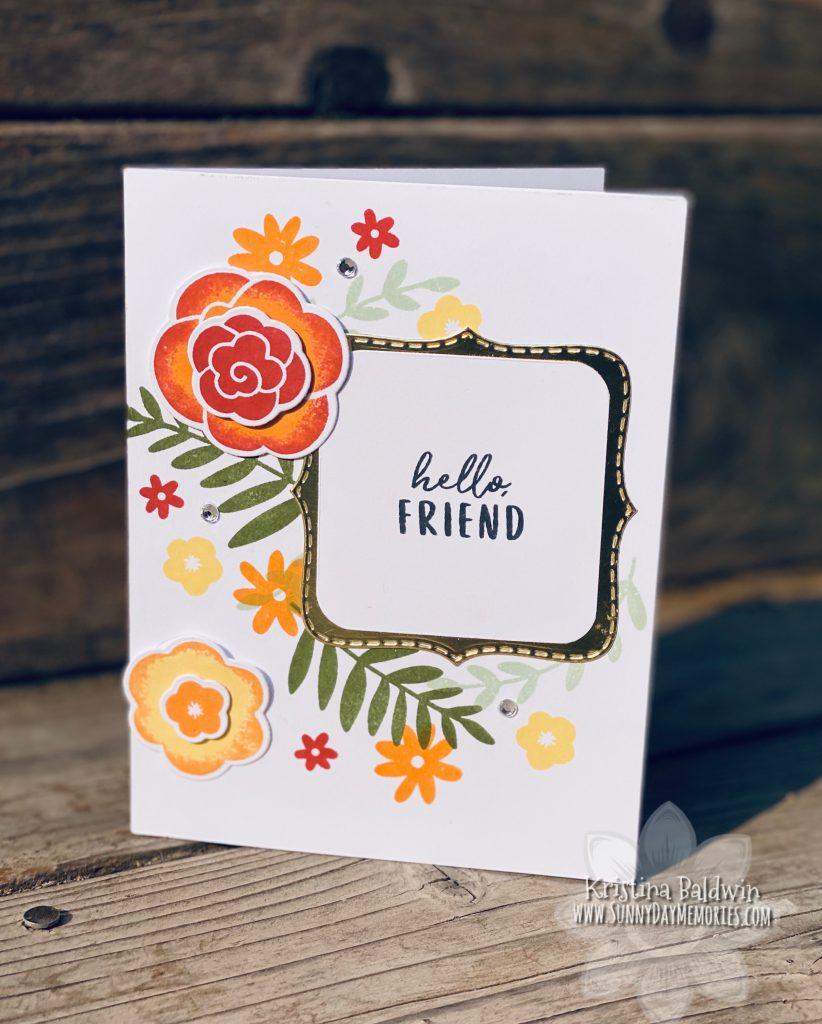 CTMH Simple Florals Hello Friend Card