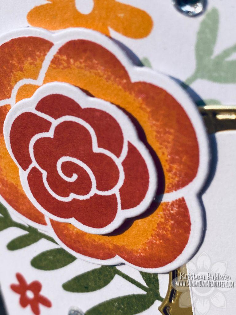CTMH Simple Florals Hello Friend Card Closeup