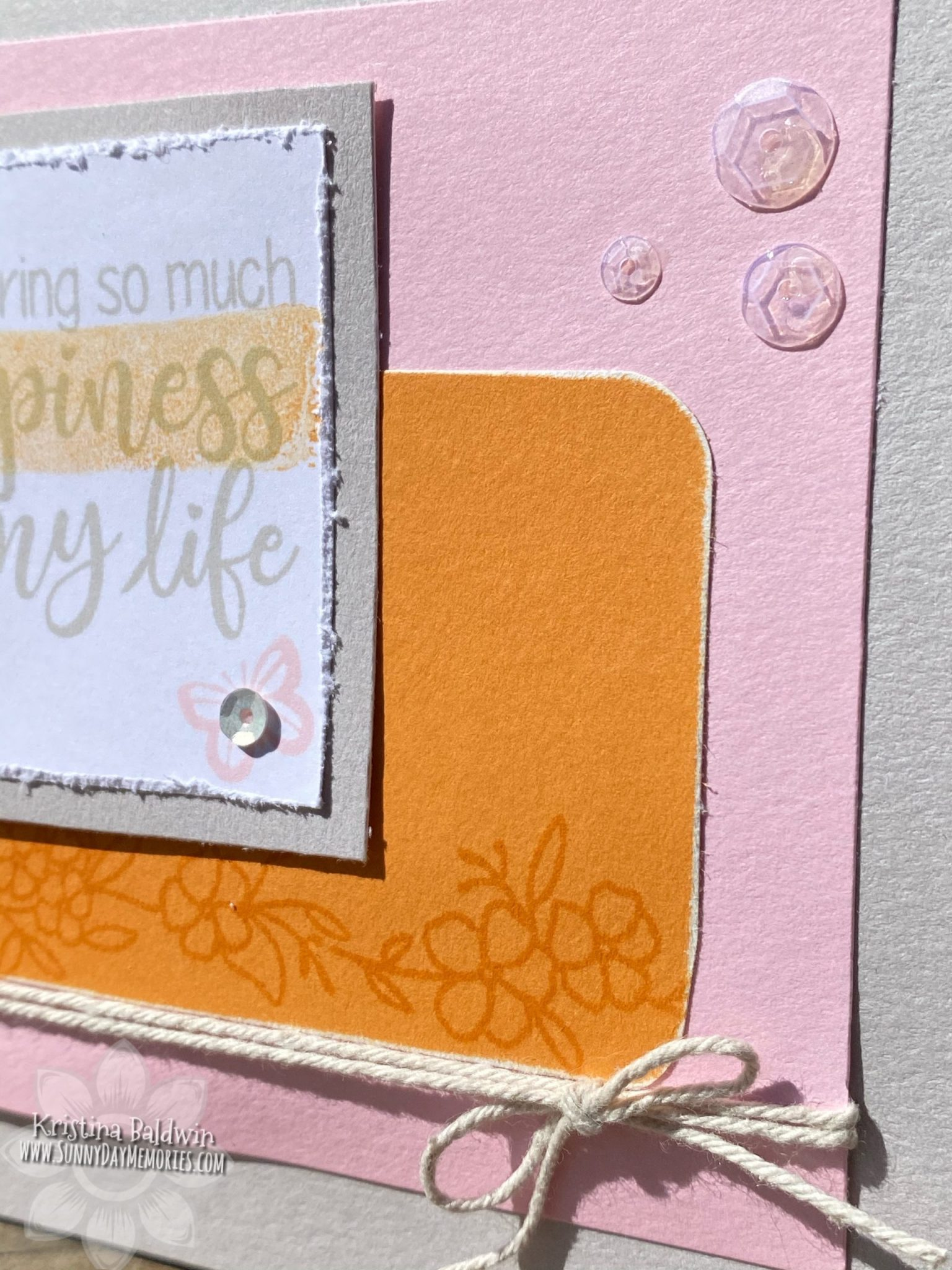 CTMH For My Beautiful Friend Card Closeup