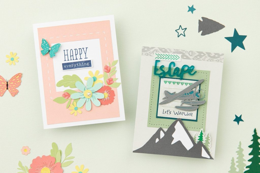 CTMH Aurora & Stitched Together Cards from Cricut Collections