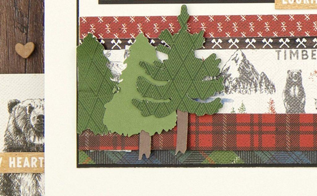 CTMH Cricut Timber Layout Closeup