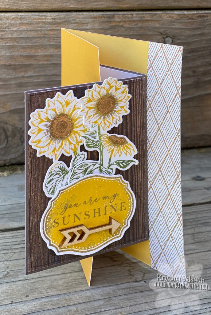 CTMH Joyful Sunflower Fun Fold Card
