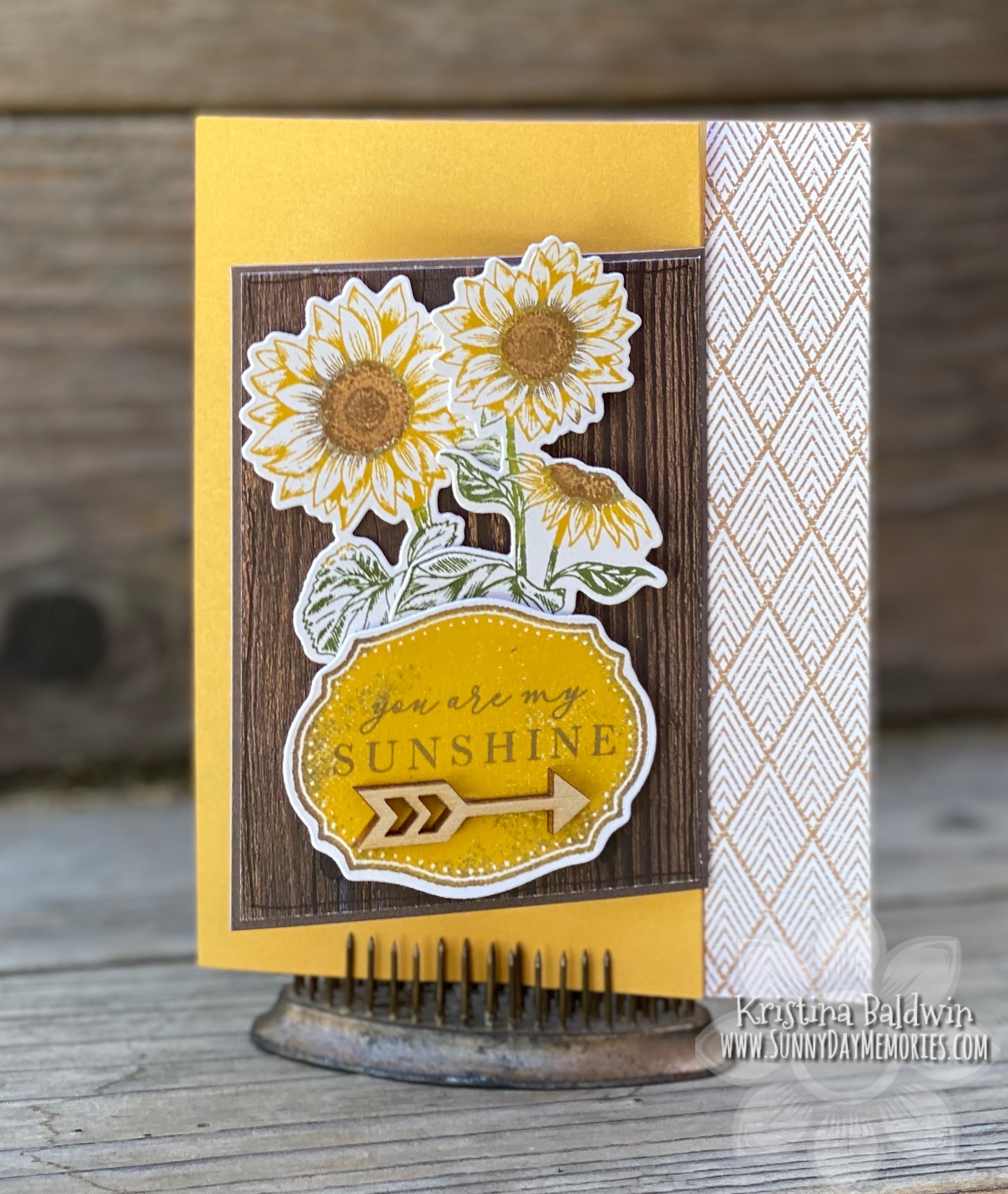 CTMH Joyful Sunflower Fun Fold Card